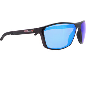 Red Bull SPECT Raze Sunglasses Men, shiny x'tal black/smoke-blue mirror